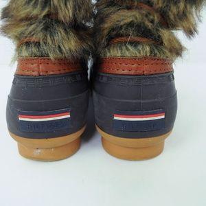 Tommy Hilfiger Shoes - Tommy Hilfiger Duck Boots Faux Fur Lace Up